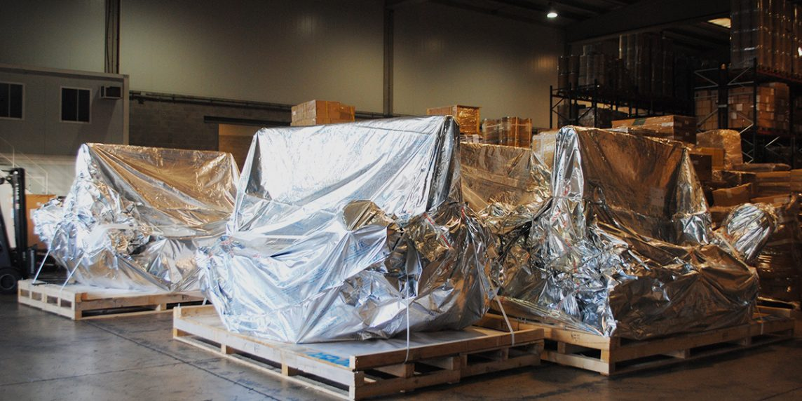 Industrial goods shipment, machinery, robots shipping
